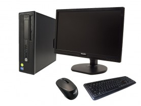 """HP EliteDesk 800 G1 SFF + 21,5"""" Monitor Philips Brilliance 221B6L + Keyboard & Mouse repasované pc - 1604105"""