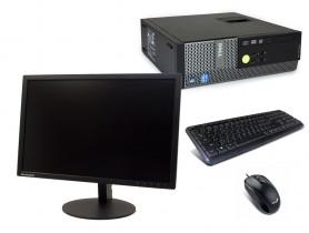 "Dell OptiPlex 390 SFF + 22"" ThinkVision T2254a + Klavesnica a Myš repasované pc - 2070181"